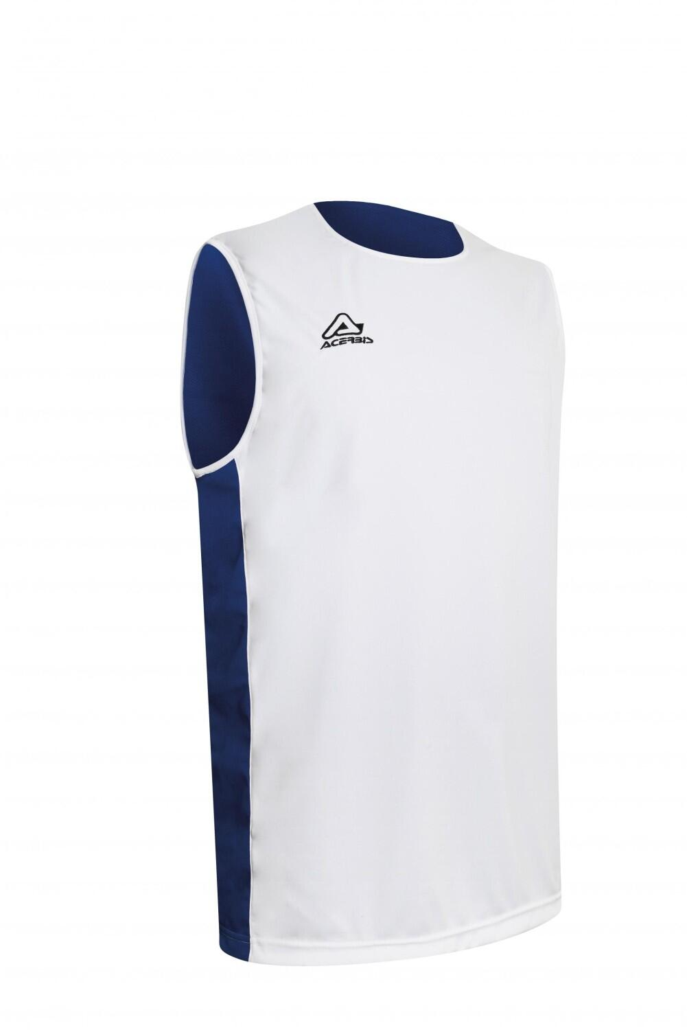Basketball Wende Trikot Larry  v. Acerbis , weiß - royal, 4XS-4XL