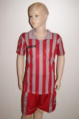 14 Legea- Fußball- Trikot- Sets -  BROADWAY  grau /rot