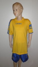 "14 x Legea- Trikot- Sets -  ""Colonia""  gelb / azur"