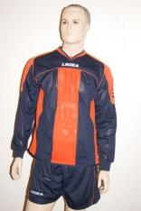 14 Legea- Fußball- Trikot- Sets -  STRASBURGO orange / blau