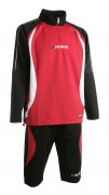 Abverkauf Trainingsanzug Malaga 402  schwarz / rot