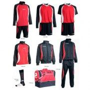 Fußballset -Set Goldkit  13-teilig - rot / schwarz