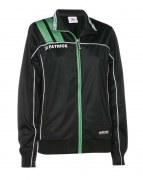 Frauen-Trainingsjacke VICTORA 125 schwarz / grün