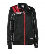 Frauen-Trainingsjacke VICTORA 125 schwarz / rot
