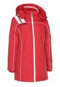 Frauen-Mantel VICTORA 135  rot / weiß